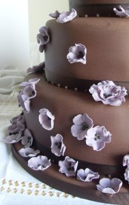 choc wedding cake