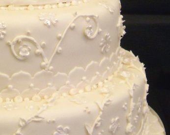 lace cake closeup