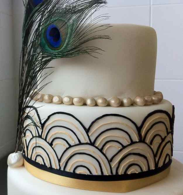 Art Deco Wedding Cake Archives Bees Bakery